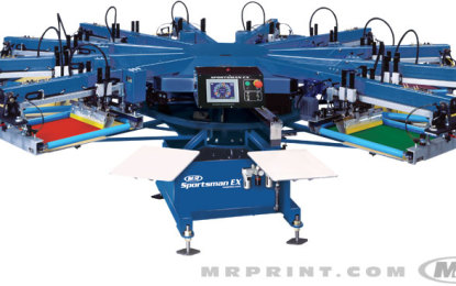 M&R introduces oval-shaped Stryker automatic screen printer