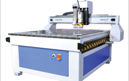 Mehta Cad Cam delivers its Mehta CNC router to Rajan Glass & Aluminium, Jaipur