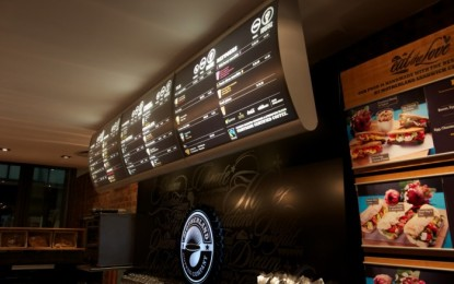Vista Systems' illuminated LED food menu boards