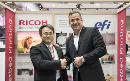 RICOH to sell EFI VUTEk flatbed printers globally
