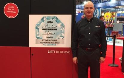 AGFA Graphics wins three 'Product of the Year Awards' at SGIA Expo 2016