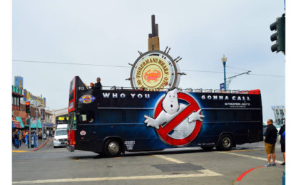 Massivit 3D printer produces attention-grabbing bus wraps for new Ghostbusters movie
