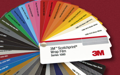 3M adds nine new colours to its 1080 Series Wrap Film