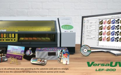 Roland DG's new LEF-200 UV flatbed printer for printing and customisation