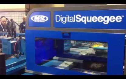 M&R introduces DigitalSqueegee high-speed DTG printhead