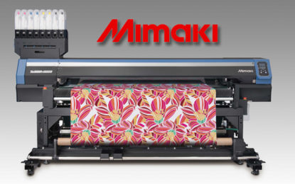 Mimaki celebrates awards and first sale of Tiger-1800B at FESPA 2017