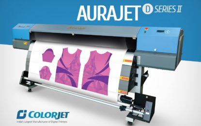 ColorJet India's new Aurajet D-II Series dye sublimation printer launched at Gartex 2017