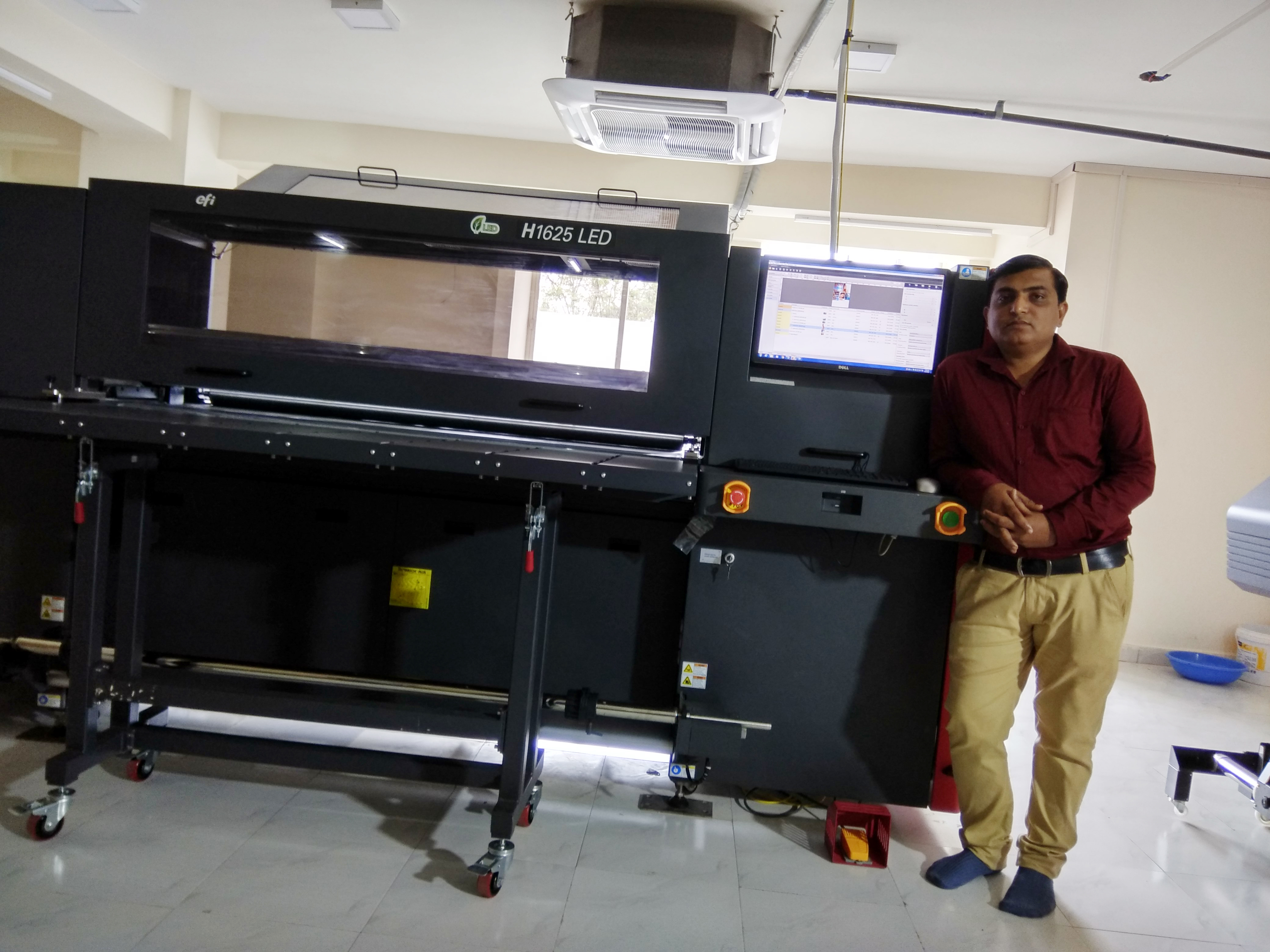 Shubhi Graphics & Multimedia in Indore adopts Efi H1625 LED UV and OKI M64