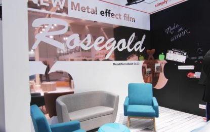 ASLAN complements its metal effect films with trendy rosegold