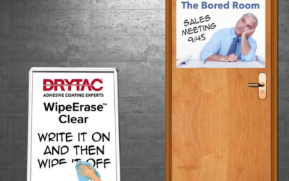 Drytac launches WipeErase Clear overlaminate film