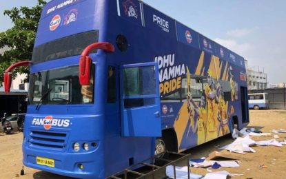 Cliftech wraps Chennai Super Kings team bus at IPL 2018