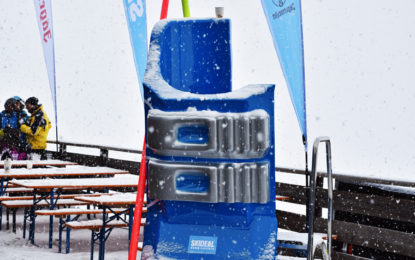 Massivit 1800 3D printed larger-than-life 3D sport accessories at Ski Deal Week in Italy