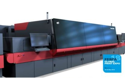 EFI demonstrates its award-winning Nozomi C18000 for corrugated printing at FESPA 2018