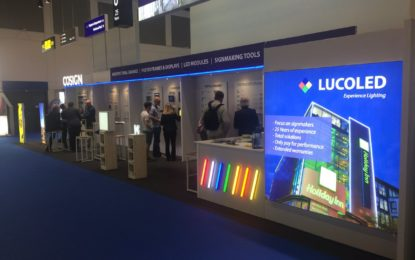 COSIGN reveals new innovations in light boxes using LUCOLED LEDs at FESPA 2018