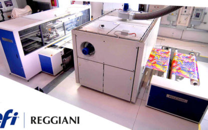 EFI helps PSPs achieve unparalleled colour results with new Reggiani COLORS textile printer