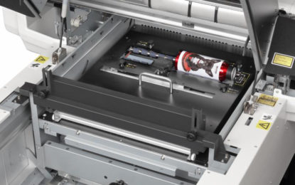 MUTOH introduces rotary print system for Valuejet 626UF flatbed UV LED printer