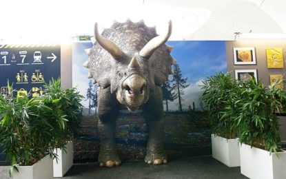 Massivit 3D helps METROPOLE create an ultra-realistic full-size triceratops at Paris exhibition