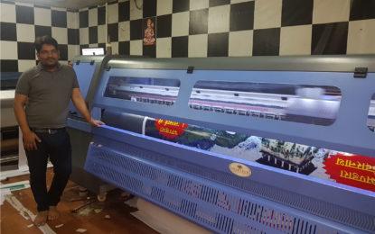 Goldtech Megajet printer installed at Sai Advertising Services