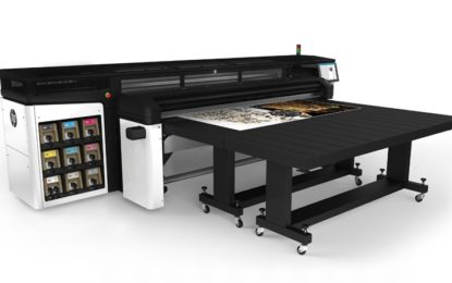 HP Latex R2000 printer pioneers in White Ink capabilities