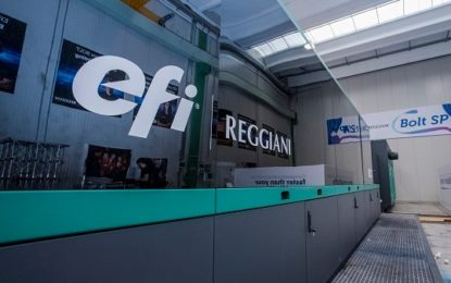 EFI launches 'next-gen' Reggiani BOLT textile printer
