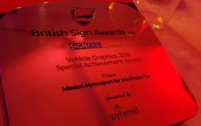 Roland users celebrate their crafts at 2018 British Sign Awards