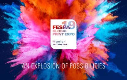 'Explosion of Possibilities' as theme of visitor campaign strapline of FESPA 2019 Global Print Expo