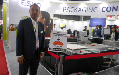 ESKO demonstrated its widely popular Kongsberg X24 cutting table at PRINTPACK INDIA 2019